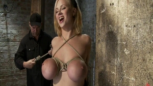 BDSM in company with large tits blonde haired Katie Morgan
