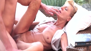 Plowing hard with young MILF Leigh Darby