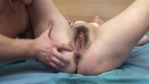 Creampied together with hairy russian mature