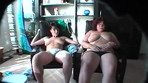 Young lesbians tribbing & fingering HD