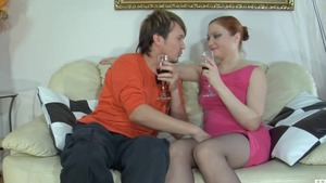 Very hot redhead hard seduced
