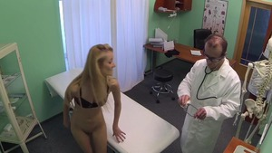 Hidden cam hard nailining along with skinny doctor