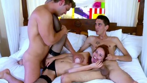 Threesome with spanish redhead Susana Melo