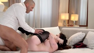 Sex scene along with busty