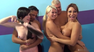 Plowing hard together with Laela Pryce and Jennifer White