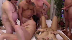 Pierced caucasian redhead masturbation at the party