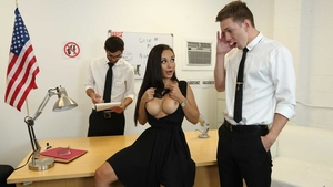 Missionary fucking in office russian Crystal Rush in a dress