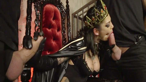 Hardcore gangbang in company with Bonnie Rotten