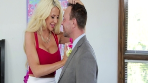 Large boobs blonde hair Courtney Taylor blowjobs