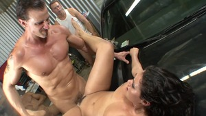 Large boobs and horny Charley Chase gangbang