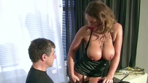 Pussy fucking together with large tits german MILF