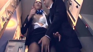 Japanese Cabin Attendant acquire plowed whilst In Time Stop