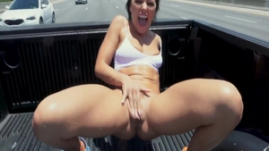 Hairy & busty pornstar Adriana Chechik ass fucking outdoors
