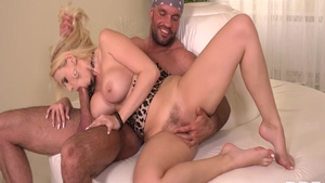 Blonde haired Angel Wicky sucking dick XXX video