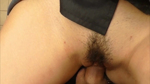 Hard nailining escorted by trimmed japanese amateur
