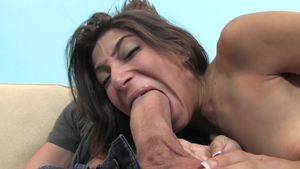 Amazing tight latina brunette Allie Jordan cowgirl fuck