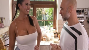 Cock sucking sex scene along with busty hard Chloe Amour