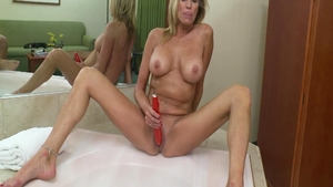 Large boobs MILF fucked in the butt
