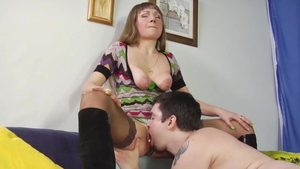 Saggy tits stepmom homemade cum in mouth rimjob HD
