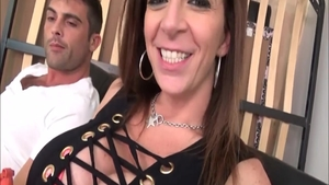 Hottest brunette Sara Jay has a thing for doggy fuck