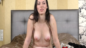 Cock sucking at casting amongst young brunette Sarah Highlight