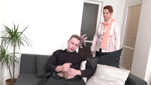 Pussy fucking in company with young MILF