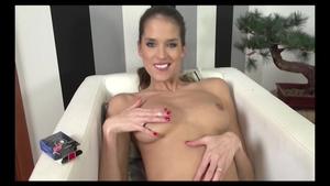 Shaved european babe Silvie Deluxe wearing panties ass fucked