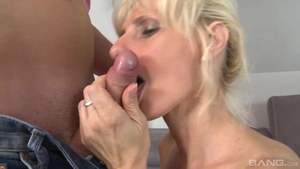 Young and saggy tits blonde rough blowjob