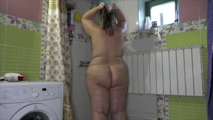 Puffy nipples pawg goes wild on cock in the shower