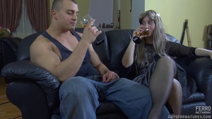 Pussy fuck together with young russian mature