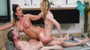 Big boobs Cherie Deville lusts hard nailining