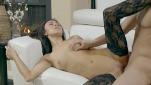 Babe Kara Faux in tight stockings rough butt pounded in public