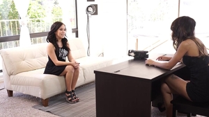 Megan Rain beside Lindsey Woods threesome at the casting in HD
