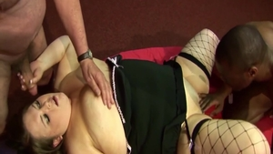 Real sex in company with super hot BBW