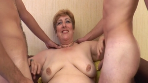 French stepmom teasing natural boobs