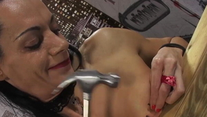 Fake tits bisexual in high heels reality nailed femdom in HD