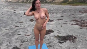 Busty mature receives yoga