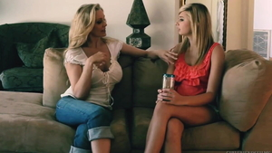 Young blonde babe Molly Bennett goes for slamming hard HD