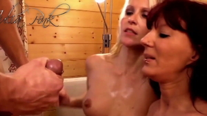 Conny Dachs sex with hot MILF Julia Pink at the party