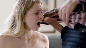 Small tits Riley Star blonde babe throat fuck video