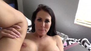 Hard ramming in the company of big tits brunette
