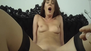 Little Caprice in rough POV pussy fucking