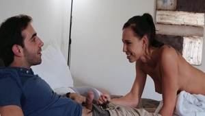 Hottest & large boobs babe Aidra Fox in panties cumshot