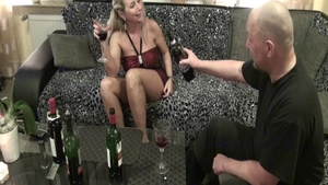 Homemade hard sex in company with sexy german blonde haired