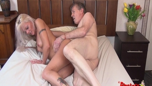 Cumshot alongside tight british mature