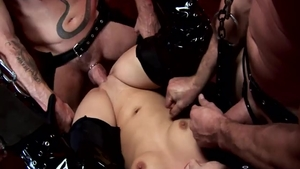 Very kinky Liz Valerie wishes gangbang