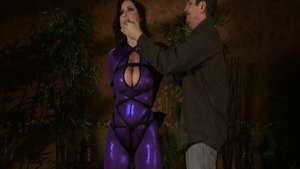 Charming babe Christina Carter feels like rough sex in latex