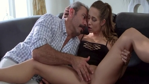 Sucking cock sex tape among super sexy hardcore Cassidy Klein