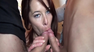 Rough nailing escorted by huge tits redhead