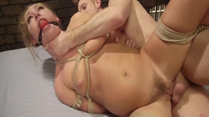 BDSM sex scene starring young rough Carter Cruise